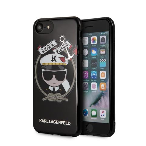 Ochranný kryt pro iPhone 8 / 7 / 6s / 6 - Karl Lagerfeld, Sailor Black