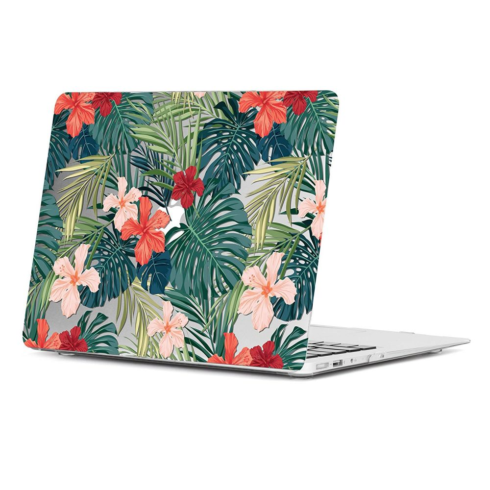 Polykarbonátové pouzdro / kryt na MacBook Air 13 - TECH-PROTECT SMARTSHELL, TROPICAL PLANTS