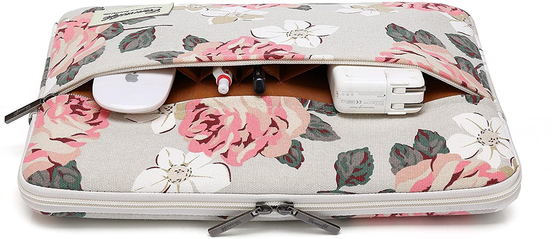 Pouzdro pro MacBook Air / Pro 13 - CANVASLIFE, SLEEVE WHITE ROSE
