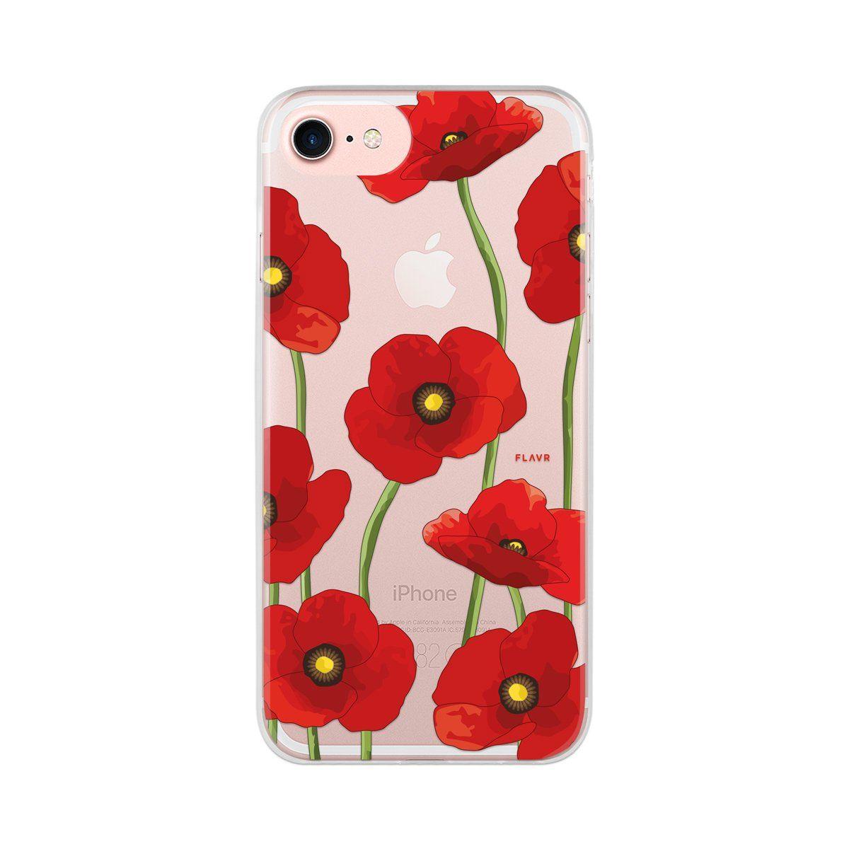 Ochranný kryt pro iPhone 8 / 7 / 6s / 6 - FLAVR, POPPY
