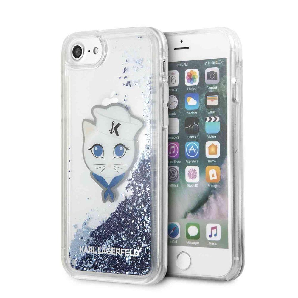 Ochranný kryt pro iPhone 8 / 7 / 6S / 6 - Karl Lagerfeld, Sailor Choupette Blue