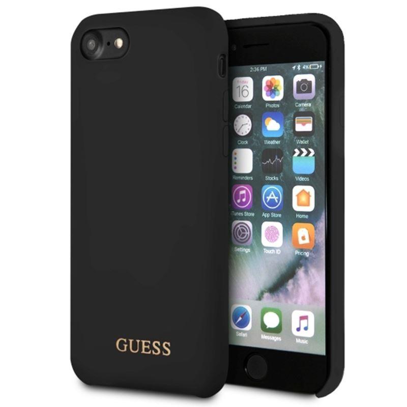 Ochranný kryt pro iPhone 7 / 8 - Guess, Silicone Logo Black