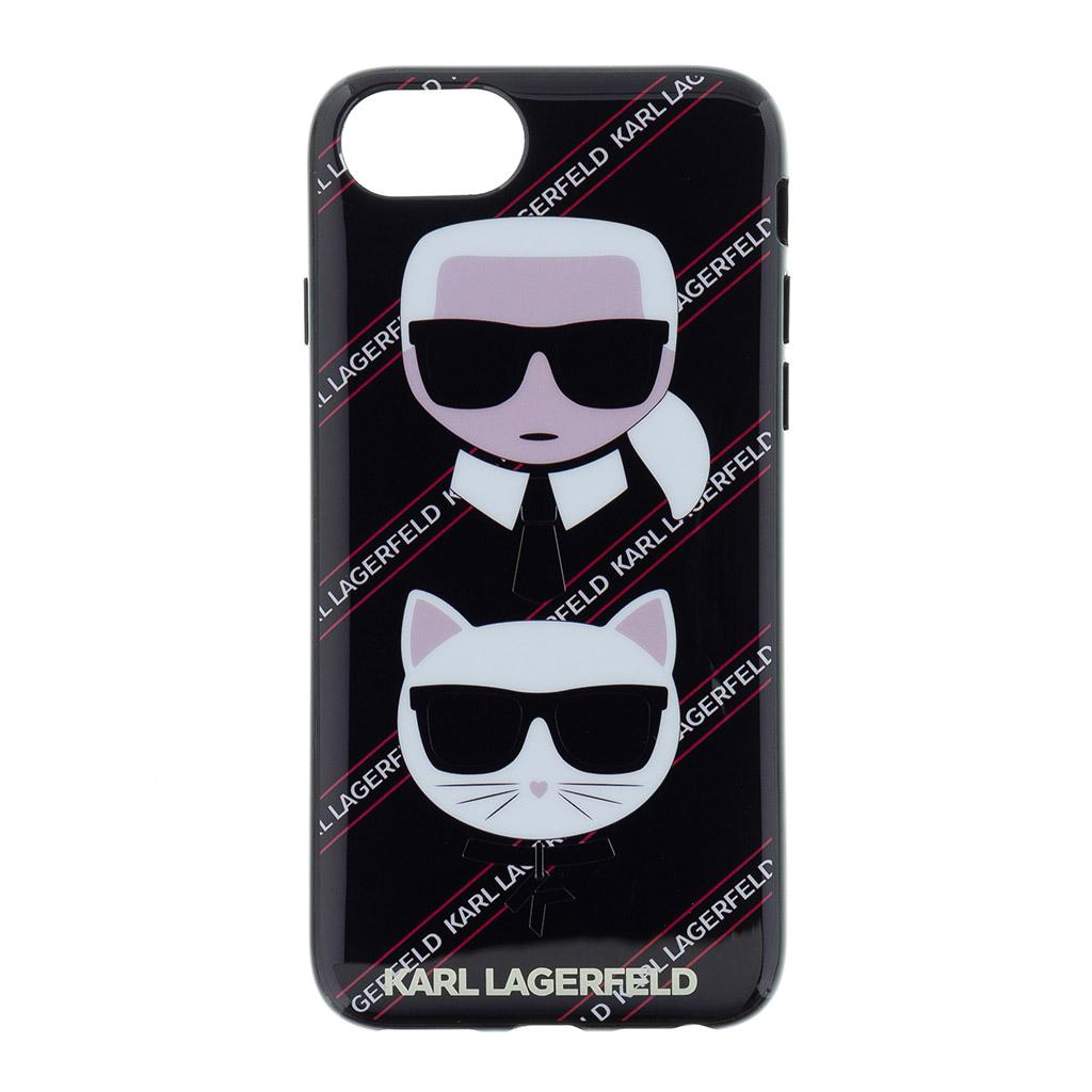 Ochranný kryt pro iPhone 8 / 7 / 6S / 6 - Karl Lagerfeld, Choupette Canvas Black