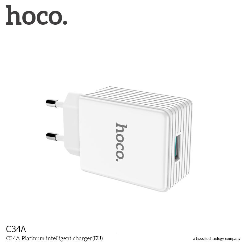 Nabíjecí AC adaptér pro iPhone a iPad - Hoco, C34A QUALCOMM QUICK CHARGE 3.0 18W