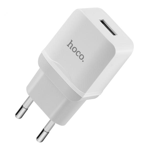 Nabíjecí AC adaptér pro iPhone a iPad - HOCO, C22A 2.4A White