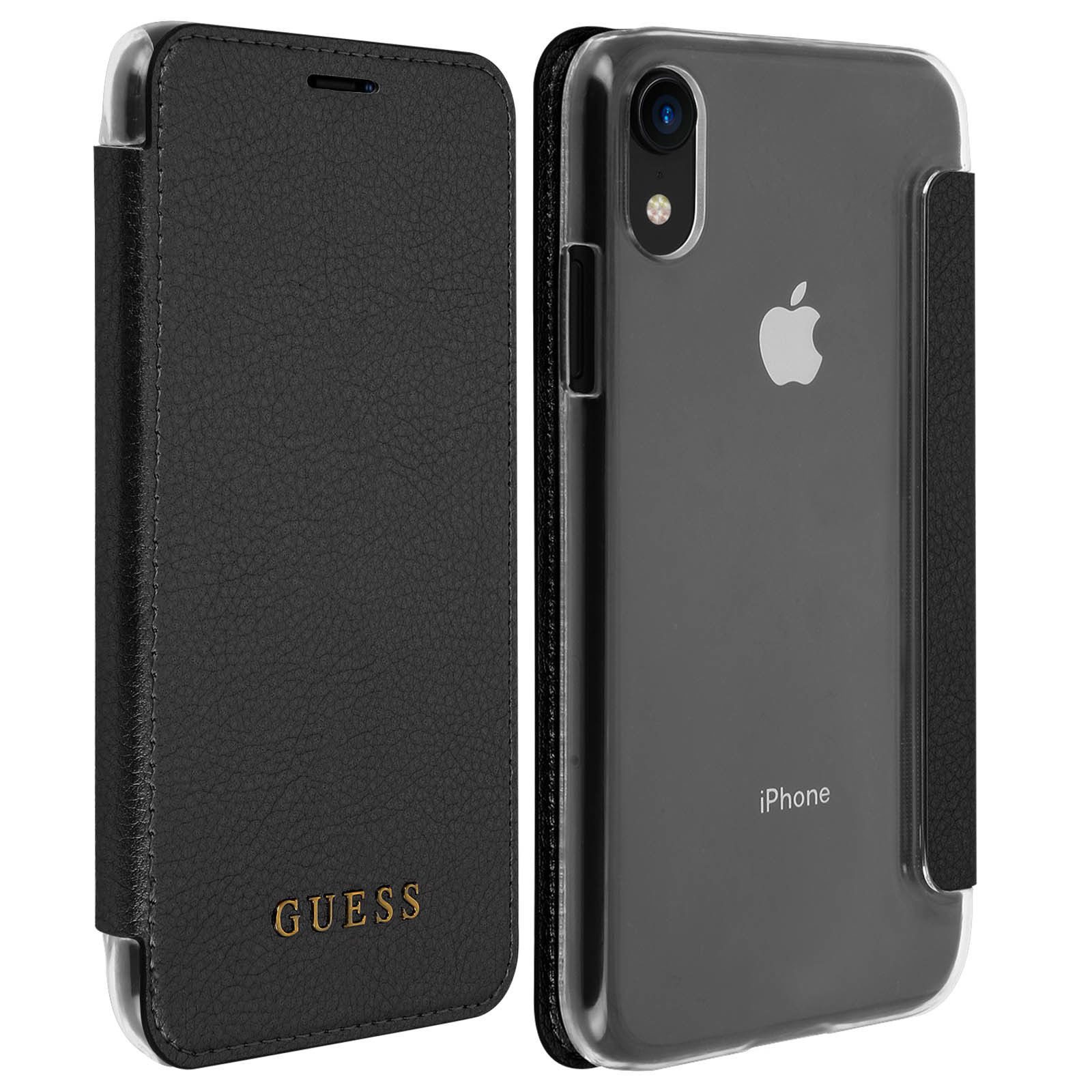 Pouzdro / kryt pro iPhone XR - Guess, Iridescent Book Black