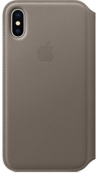 Pouzdro / kryt pro iPhone X - Apple, Folio Case Taupe