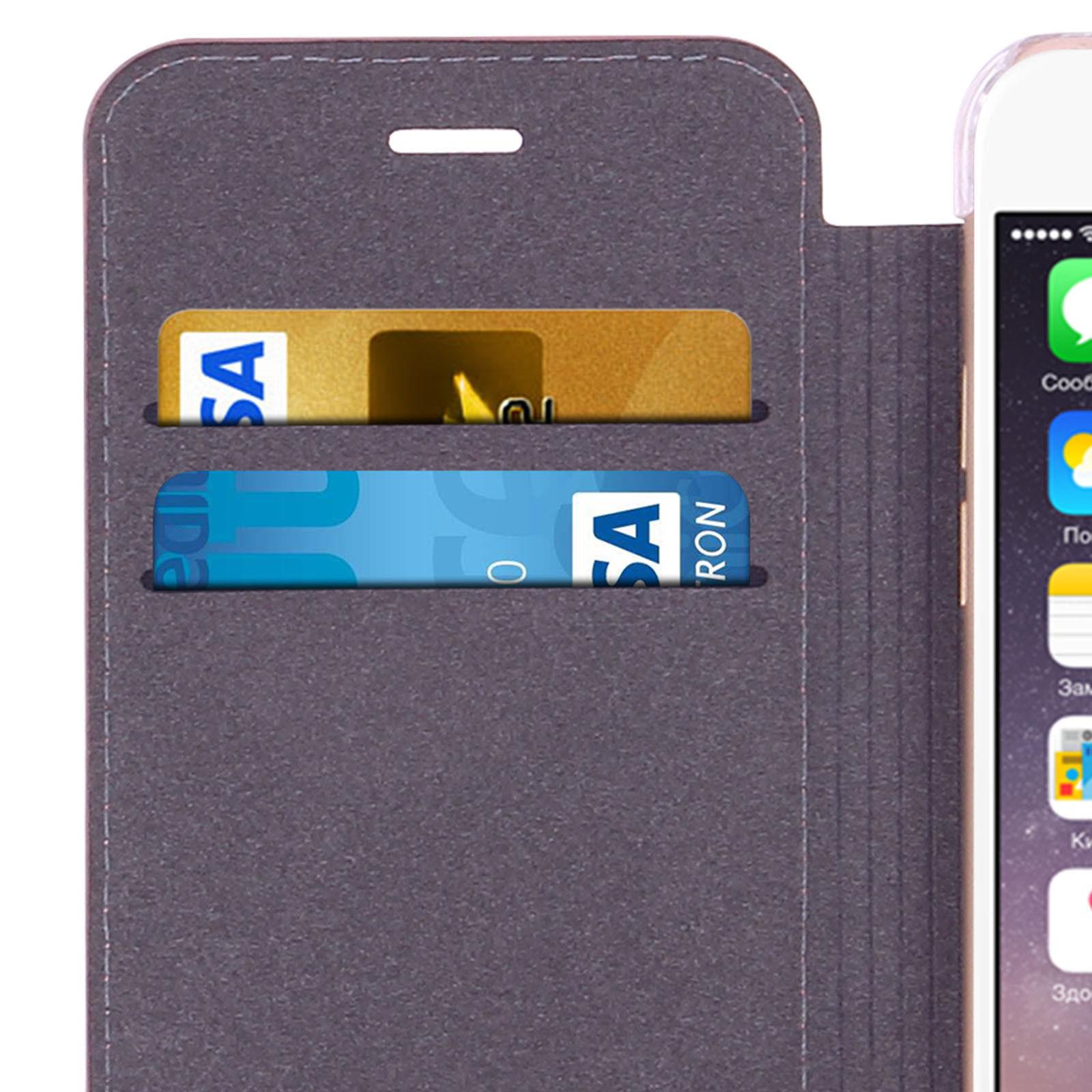 Ochranný kryt / pouzdro pro iPhone 7 / 8 - Guess, Kaia Book RoseGold