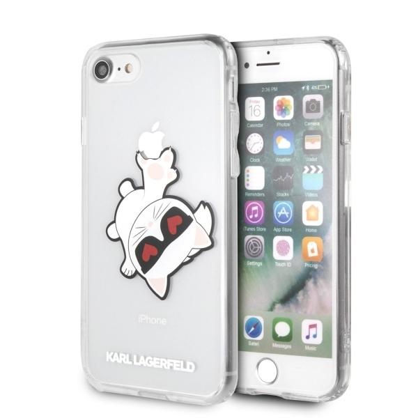 Ochranný kryt pro iPhone 7 / 8 - Karl Lagerfeld, Fun EatenAppe Black