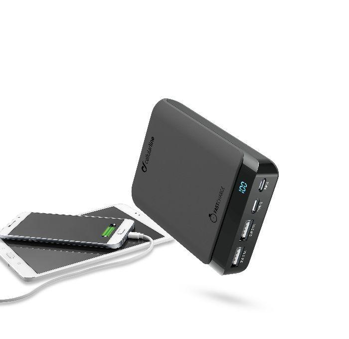 Externí baterie / powerbanka - CellularLine, PowerUp Usb-C 10000mAh Black