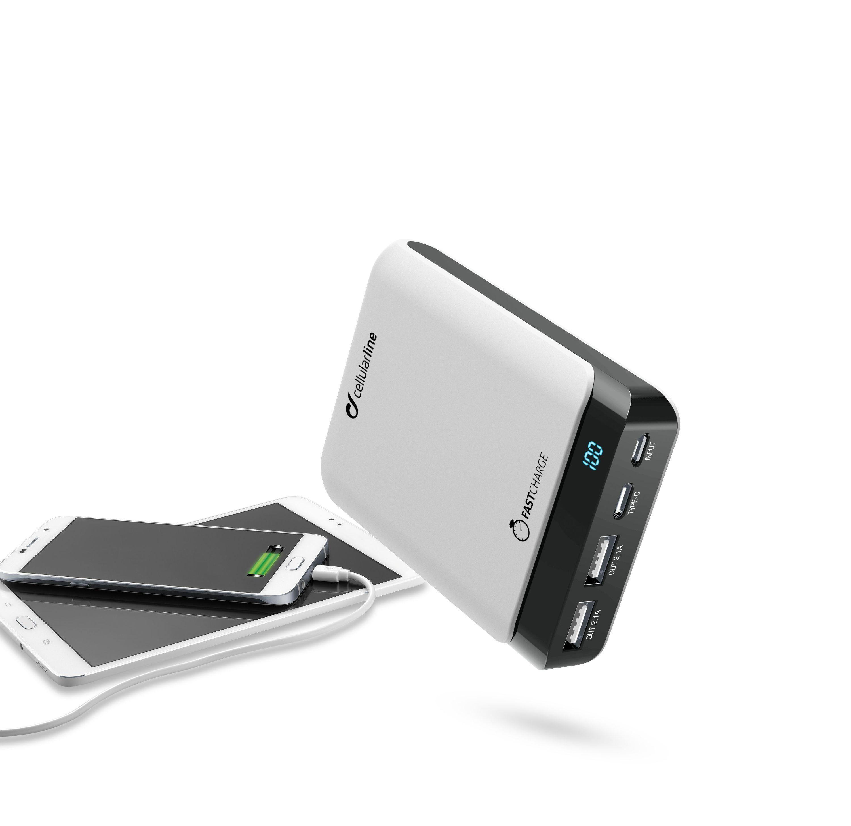 Externí baterie / powerbanka - CellularLine, PowerUp Usb-C 10000mAh White