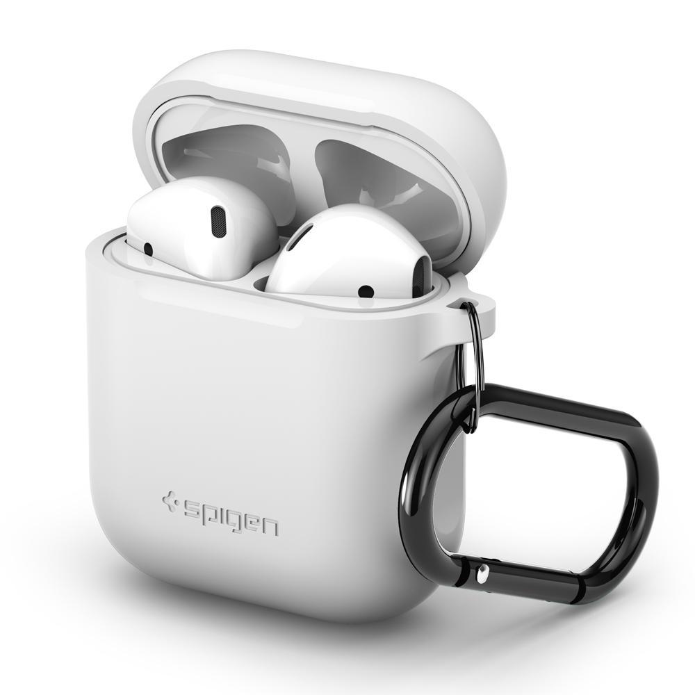 Pouzdro pro sluchátka AirPods - Spigen, AirPods Case White