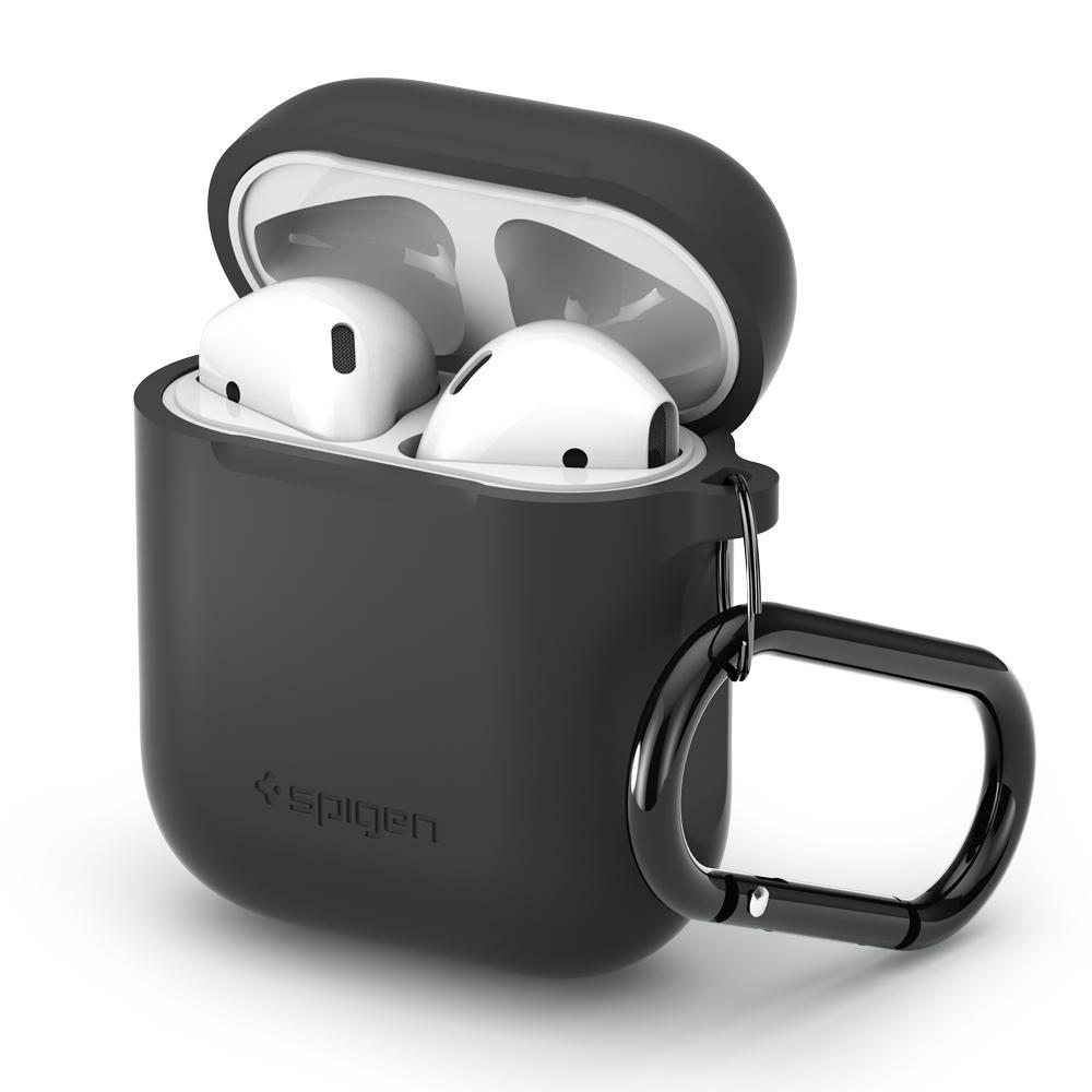 Pouzdro pro sluchátka AirPods - Spigen, AirPods Case Charcoal