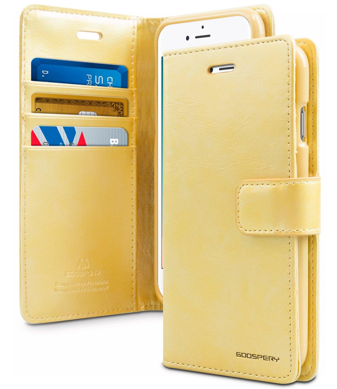 Pouzdro / kryt pro iPhone 7 Plus / 8 Plus - Mercury, Bluemoon Diary Gold