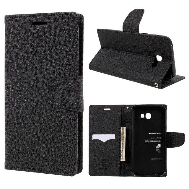 Pouzdro / kryt pro Samsung GALAXY A7 (2018) A750 - Mercury, Fancy Diary Black/Black