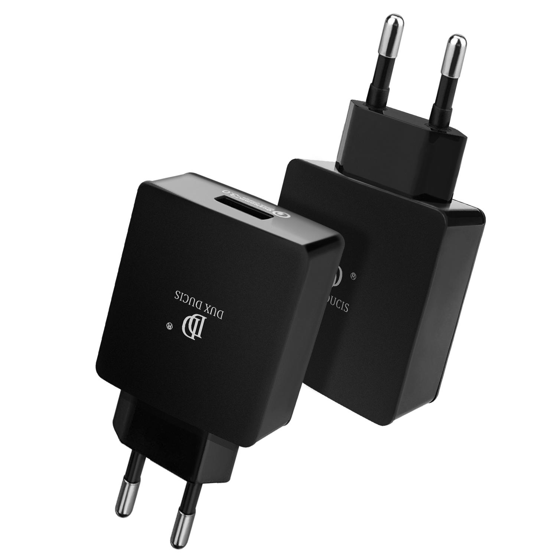 Rychlý nabíjecí AC adaptér pro iPhone a iPad - DuxDucis, C30 QUICK CHARGE 3.0 BLACK