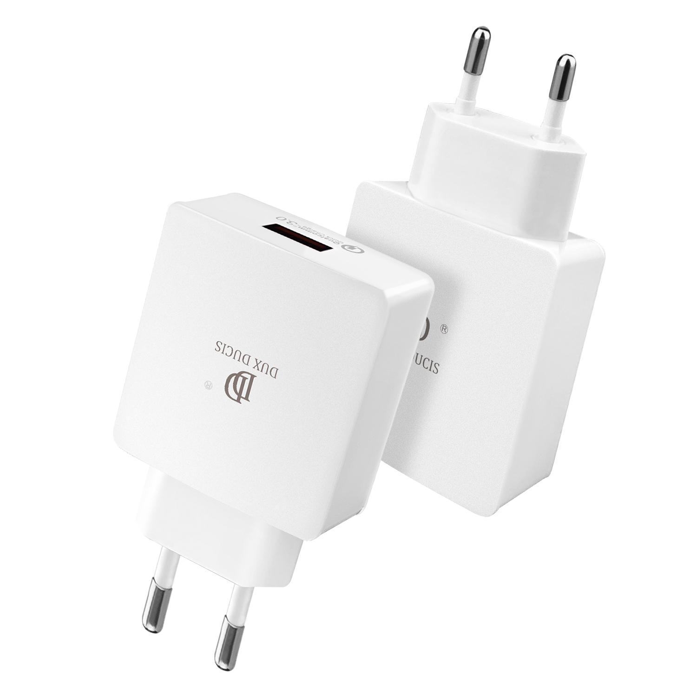 Rychlý nabíjecí AC adaptér pro iPhone a iPad - DuxDucis, C30 QUICK CHARGE 3.0 WHITE