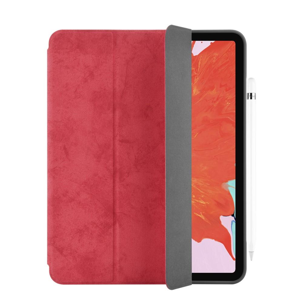 Pouzdro / kryt pro iPad Pro 11 - Comma, Leather Case Red (Pencil Slot)