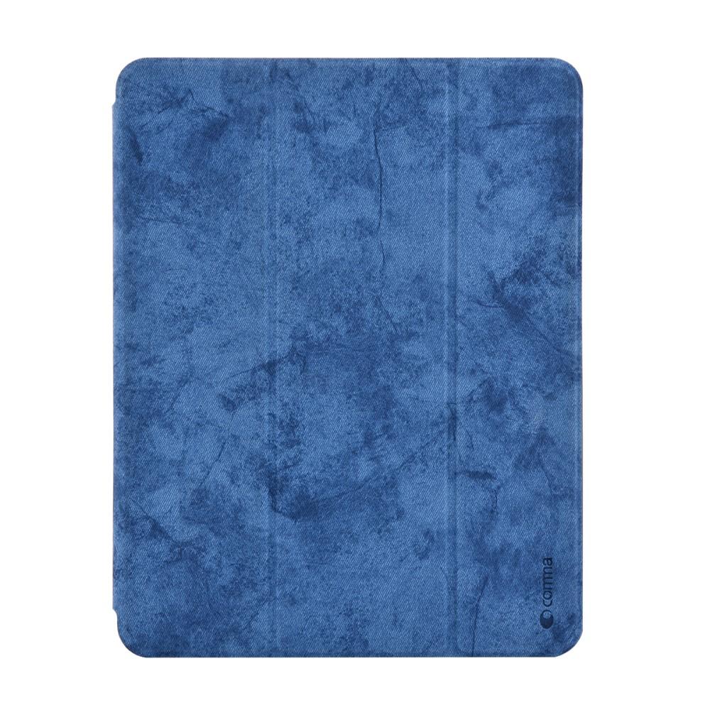 Pouzdro / kryt pro iPad Pro 12.9 (2018) - Comma, Leather Case Blue (Pencil Slot)