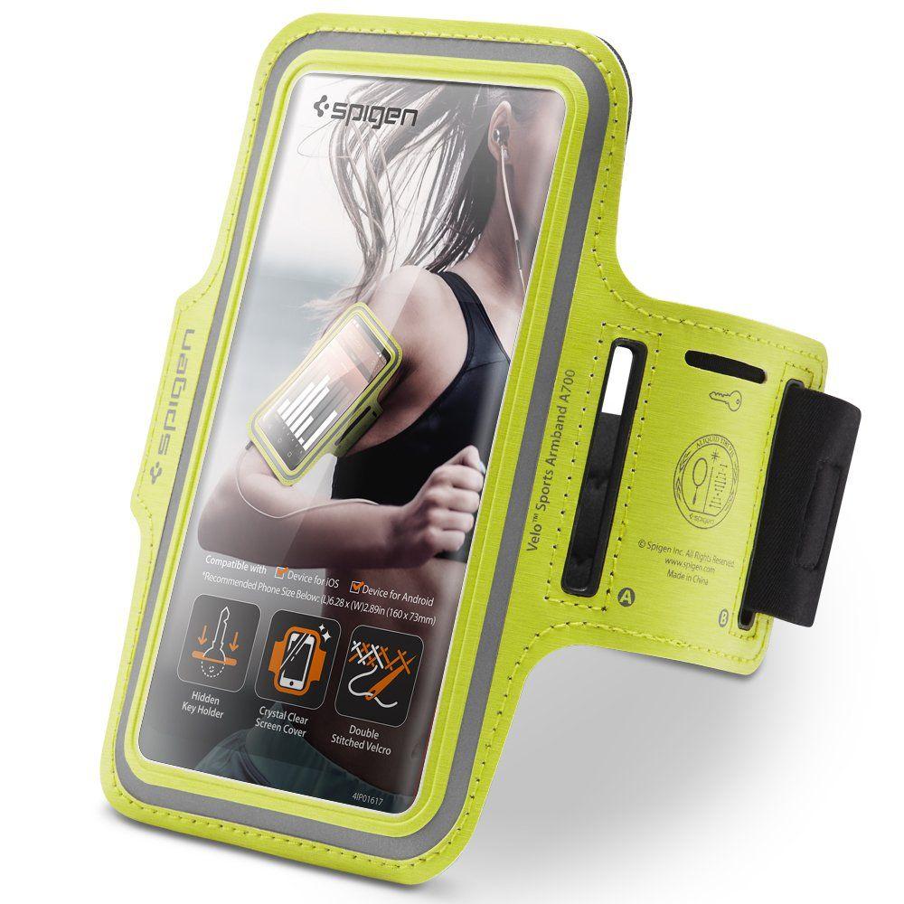 Sportovní pouzdro na ruku pro iPhone - Spigen, Velo A700 Neon