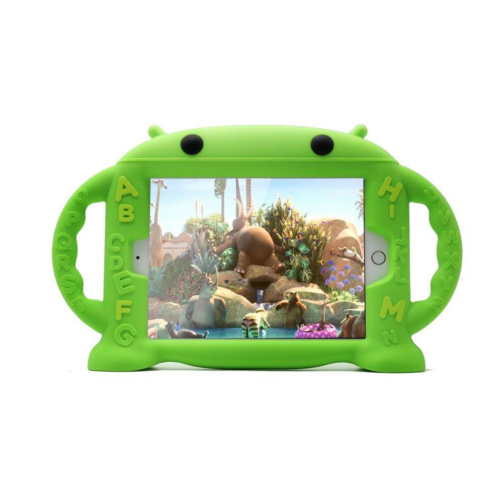 Dětské pouzdro pro iPad mini 1 / 2 / 3 / 4 - Cartoon Monkey, Green