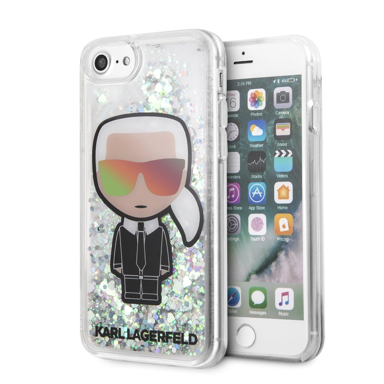 Ochranný kryt pro iPhone 8 / 7 / 6s / 6 - Karl Lagerfeld, Iridescent Glitter Black