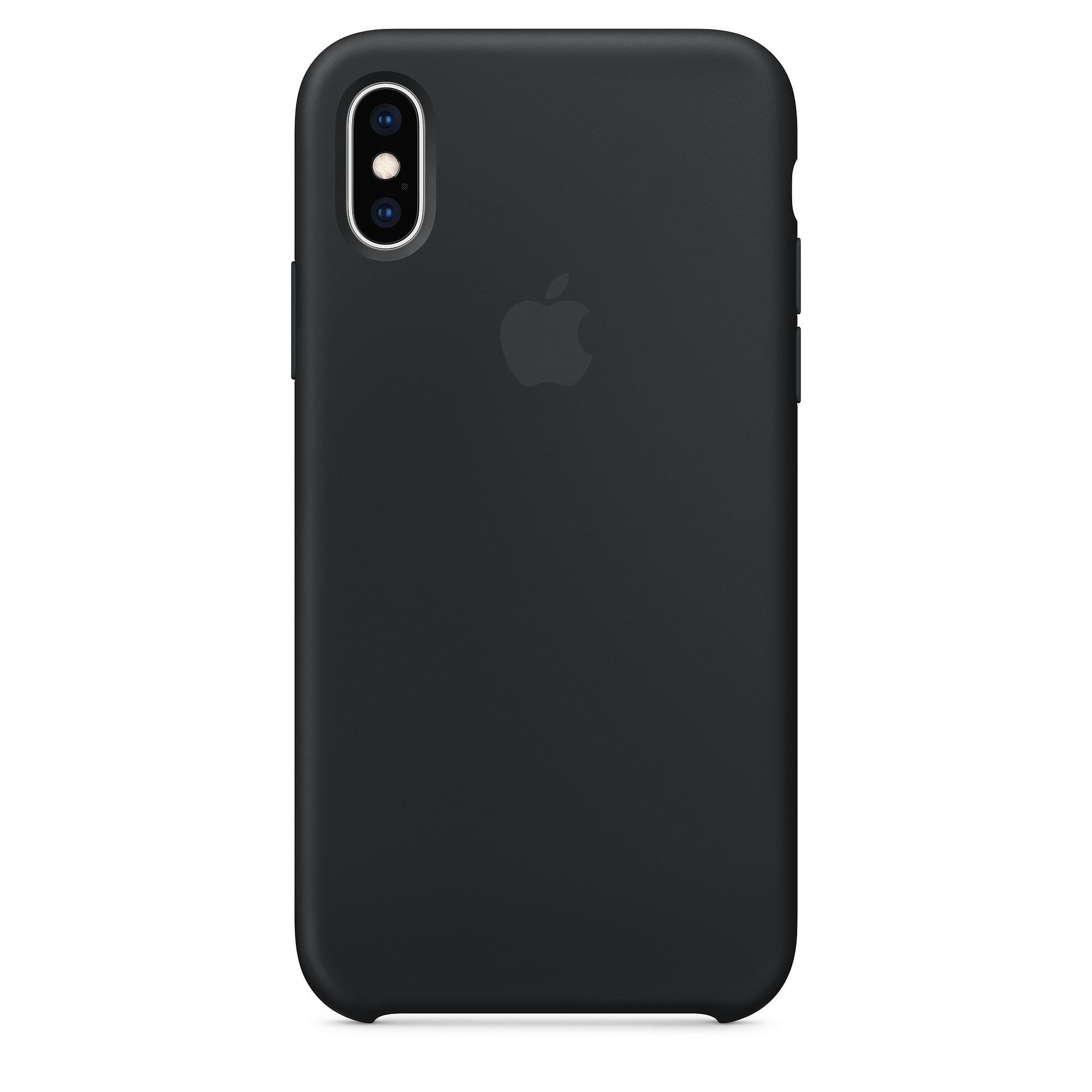 Ochranný kryt pro iPhone XS - Apple, Silicone Case Black
