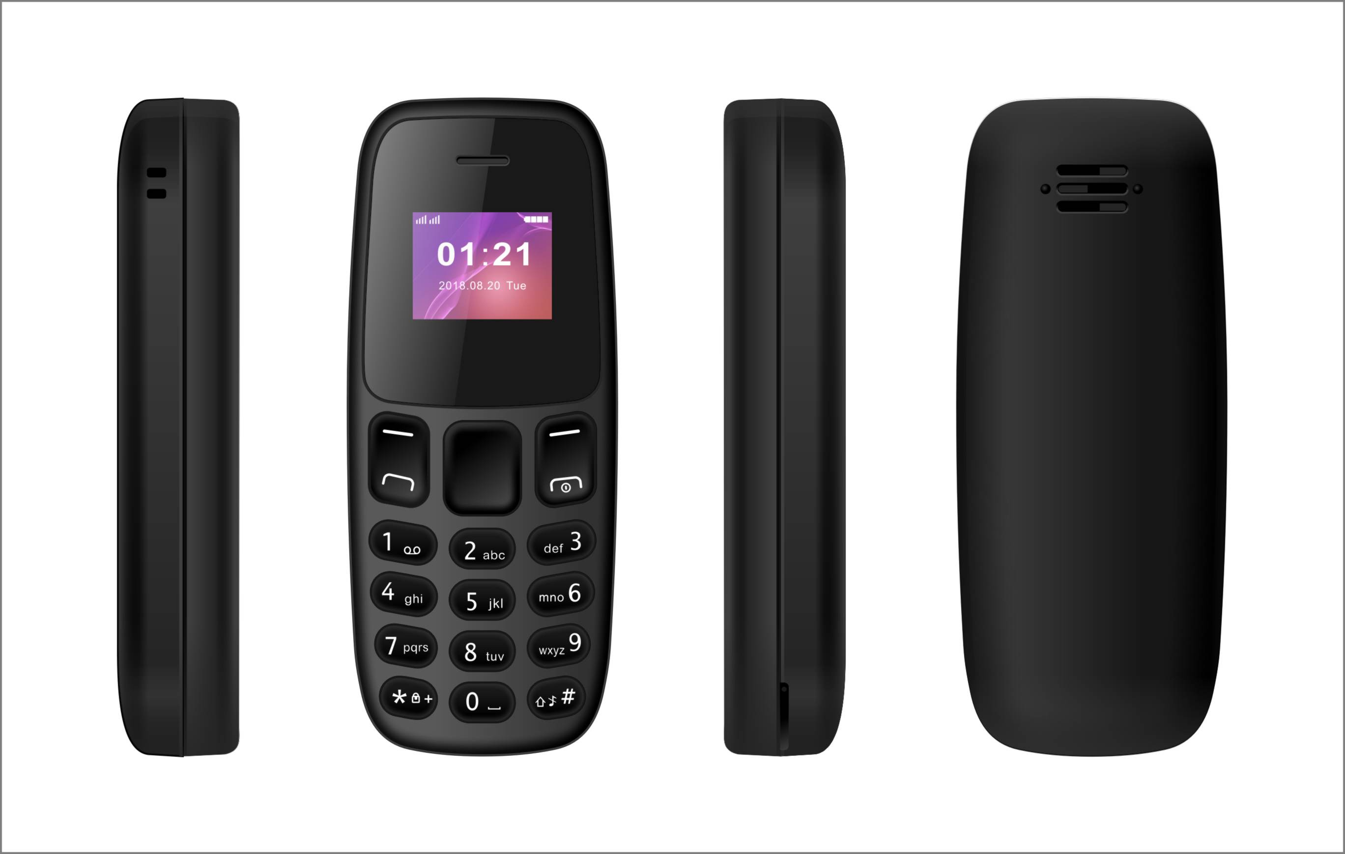Mini mobilní telefon - L8STAR, BM105 Black