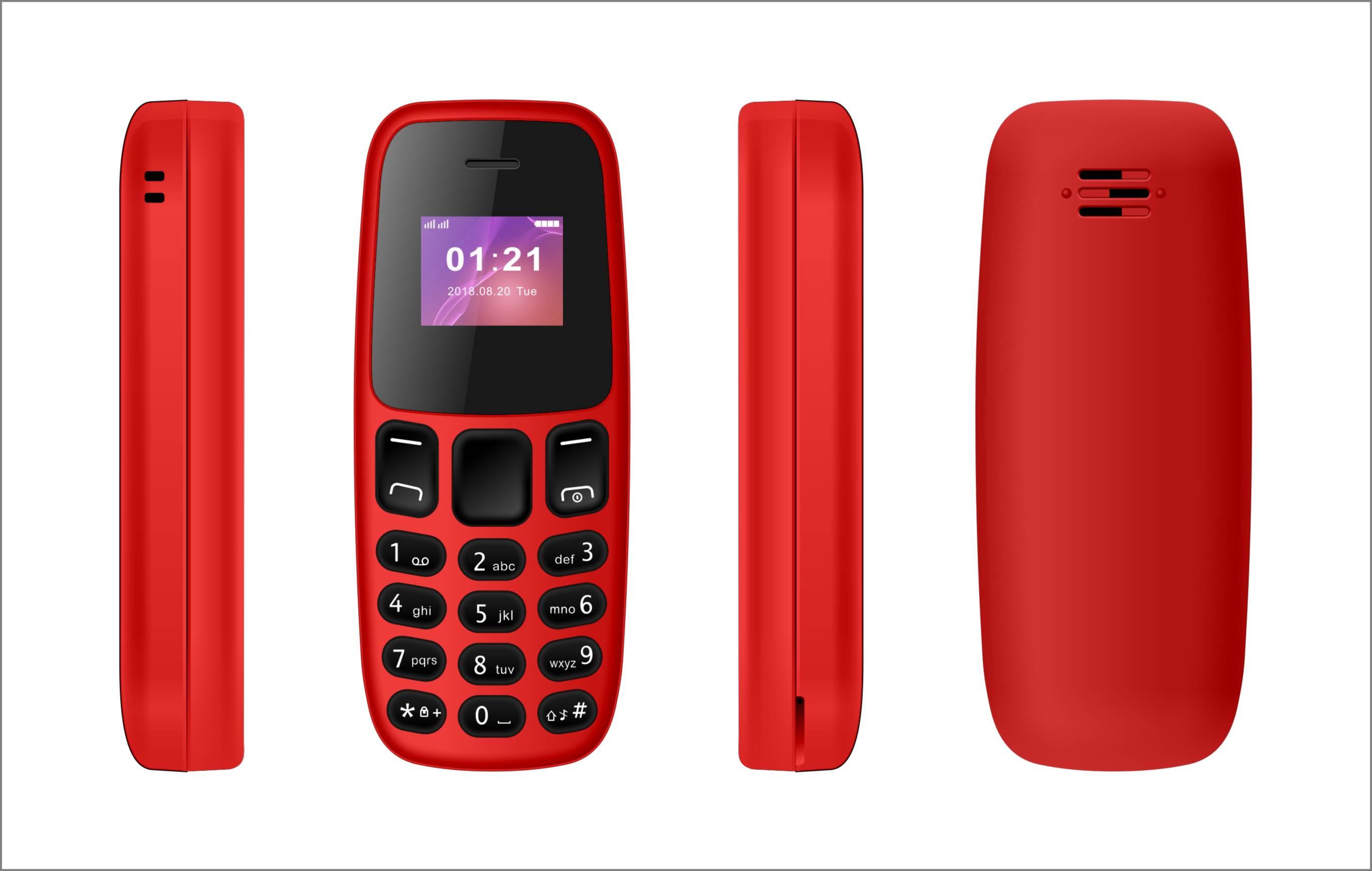 Mini mobilní telefon - L8STAR, BM105 Red