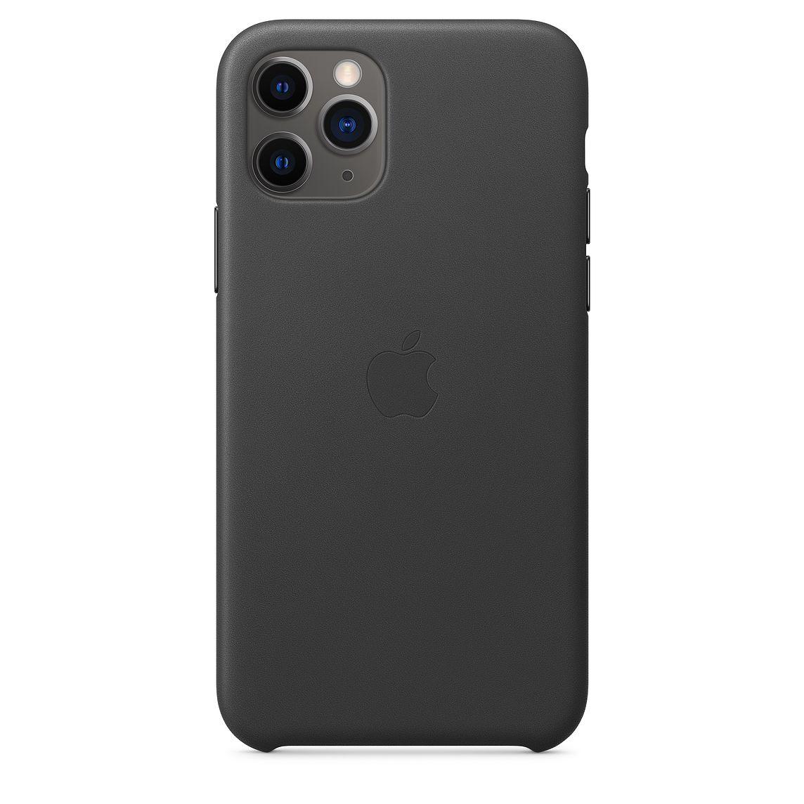 Ochranný kryt na iPhone 11 Pro - Apple, Leather Case Black