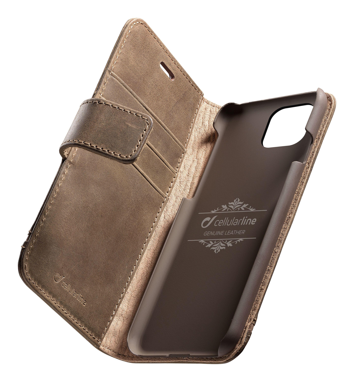 Knížkové pouzdro na iPhone 11 - Cellularine, Supreme Brown