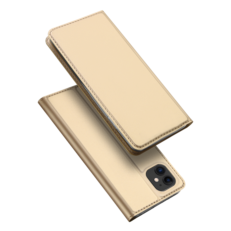 Knížkové pouzdro na iPhone 11 - DuxDucis, SkinPro Gold