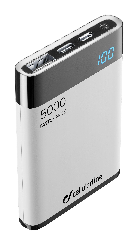 Externí baterie / powerbanka - CellularLine, FREEPOWER MANTA HD 5000mAh White