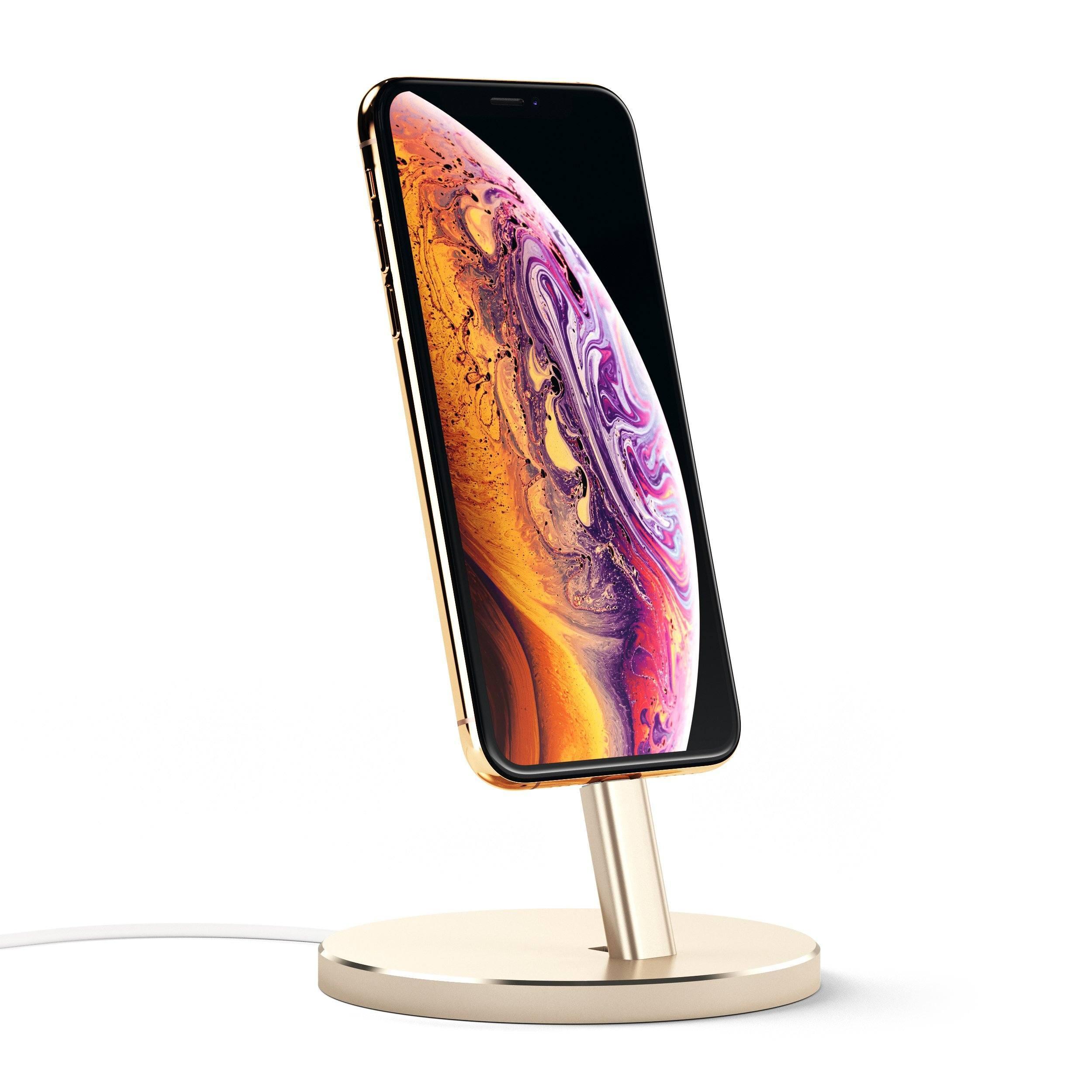 Dokovací stanice pro iPhone - Satechi, Aluminum Dock Gold