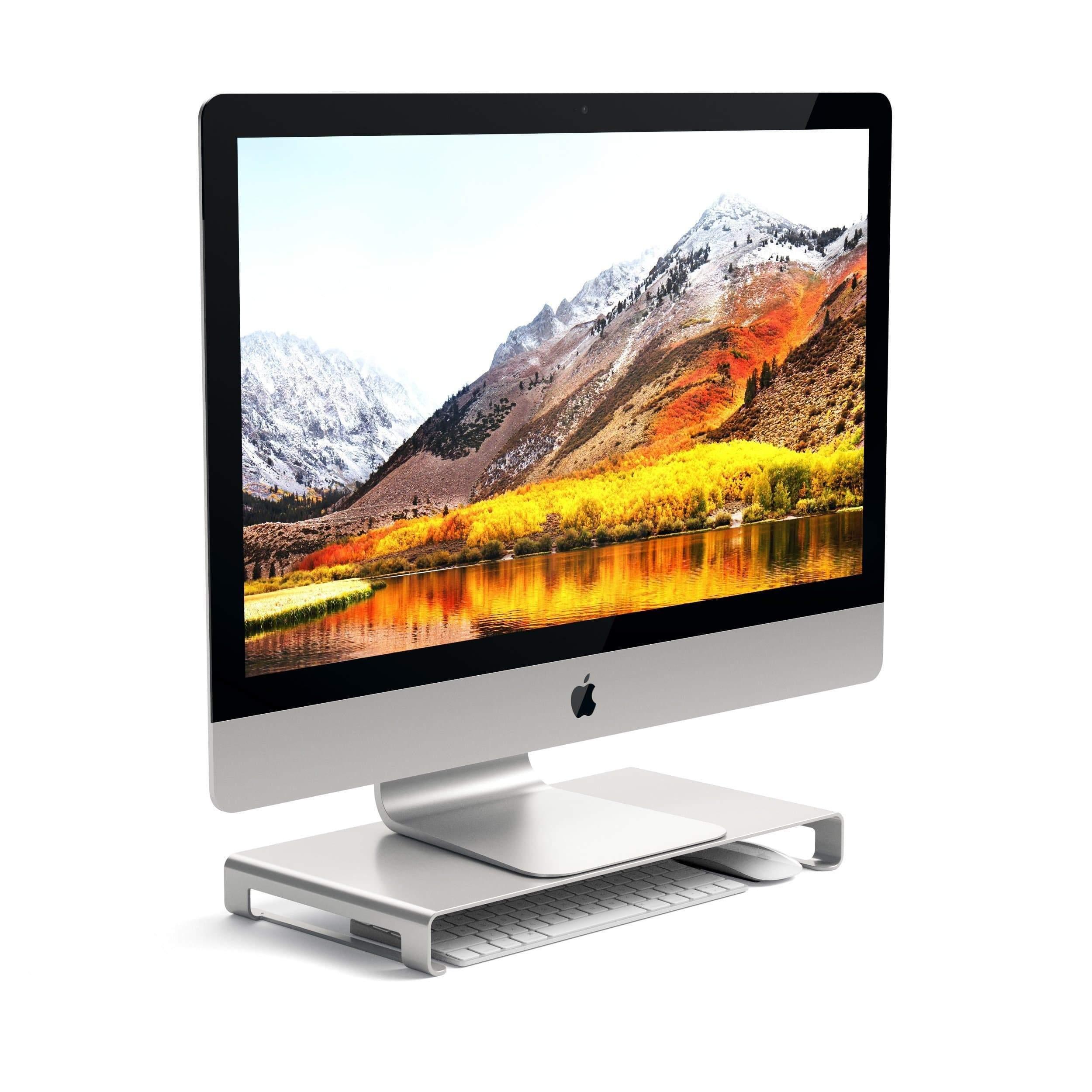 Podstavec pod MacBook / monitor - Satechi, Slim Aluminum Monitor Stand Silver