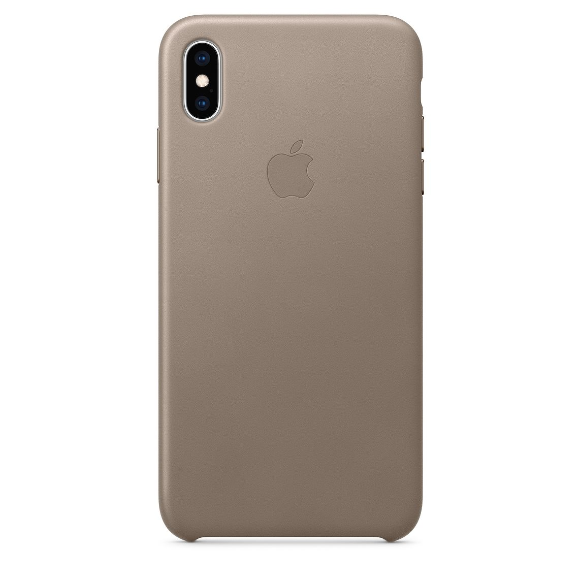 Ochranný kryt pro iPhone XS Max - Apple, Leather Case Taupe