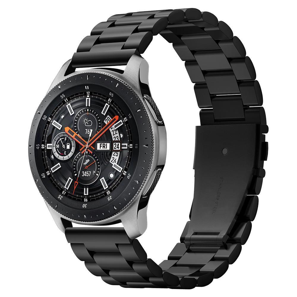 Kovový řemínek pro Samsung Galaxy Watch 46mm - Spigen, Modern Fit Black