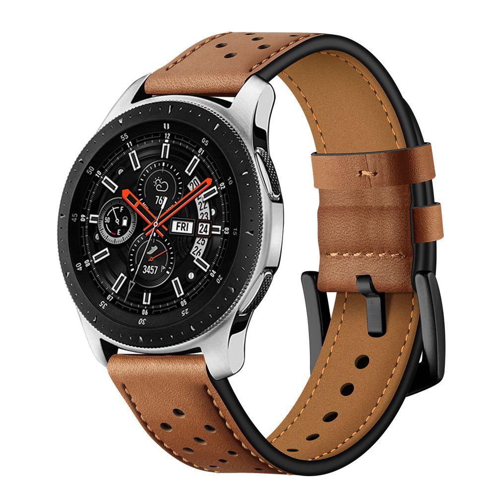 Řemínek pro Samsung Galaxy Watch 46mm - Tech-Protect, Leather Brown