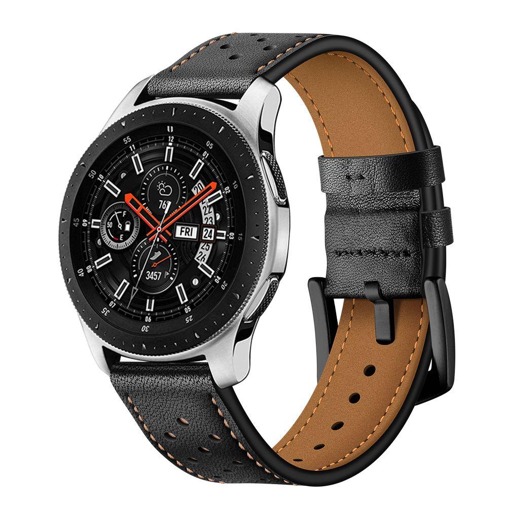 Řemínek pro Samsung Galaxy Watch 46mm - Tech-Protect, Leather Black