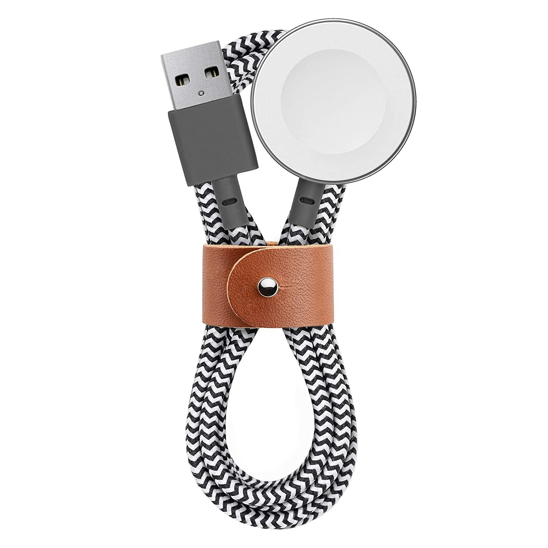 Certifikovaný nabíjecí kabel pro Apple Watch - Native Union, Belt Cable 120cm Zebra