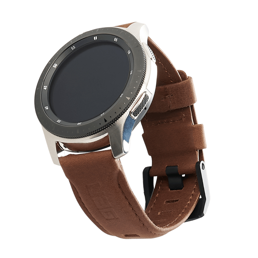 Kožený řemínek pro Samsung Galaxy Watch 46mm - UAG, Leather Strap Brown
