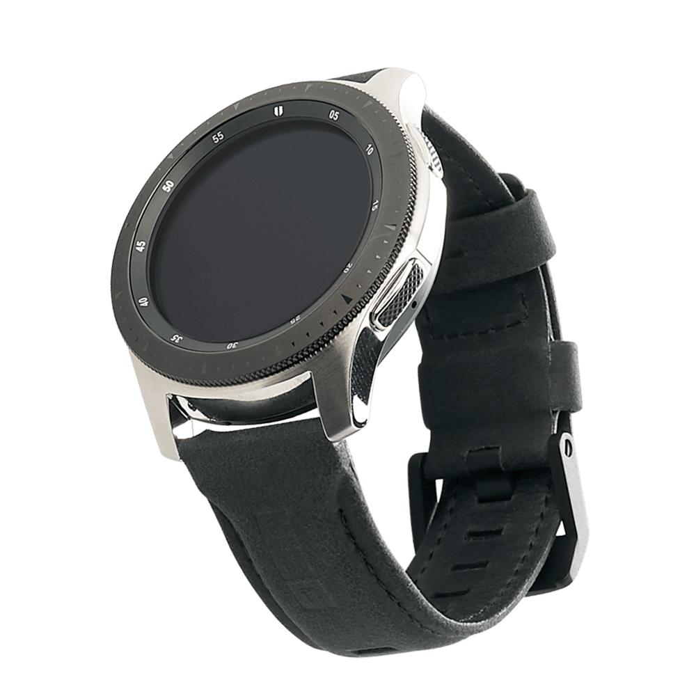 Kožený řemínek pro Samsung Galaxy Watch 46mm - UAG, Leather Strap Black