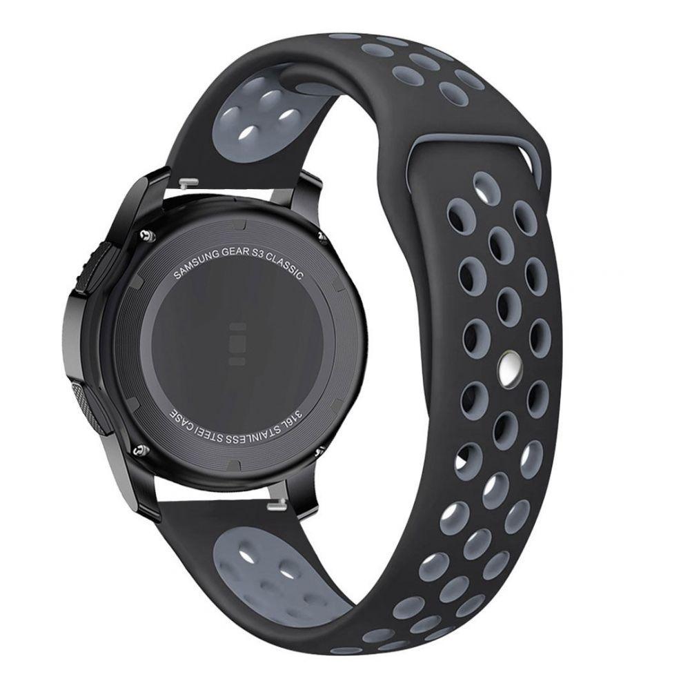 Řemínek pro Samsung Galaxy Watch 46mm - Tech-Protect, Softband Black/Gray