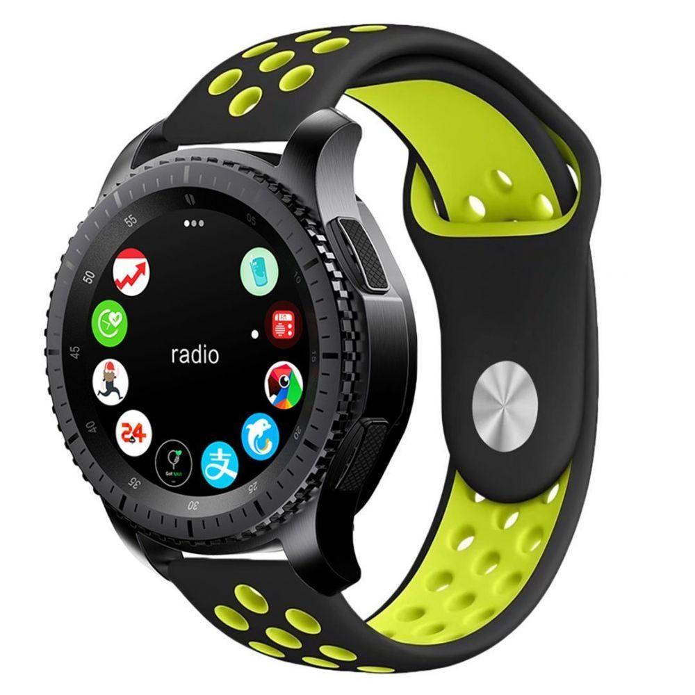 Řemínek pro Samsung Galaxy Watch 46mm - Tech-Protect, Softband Black/Lime