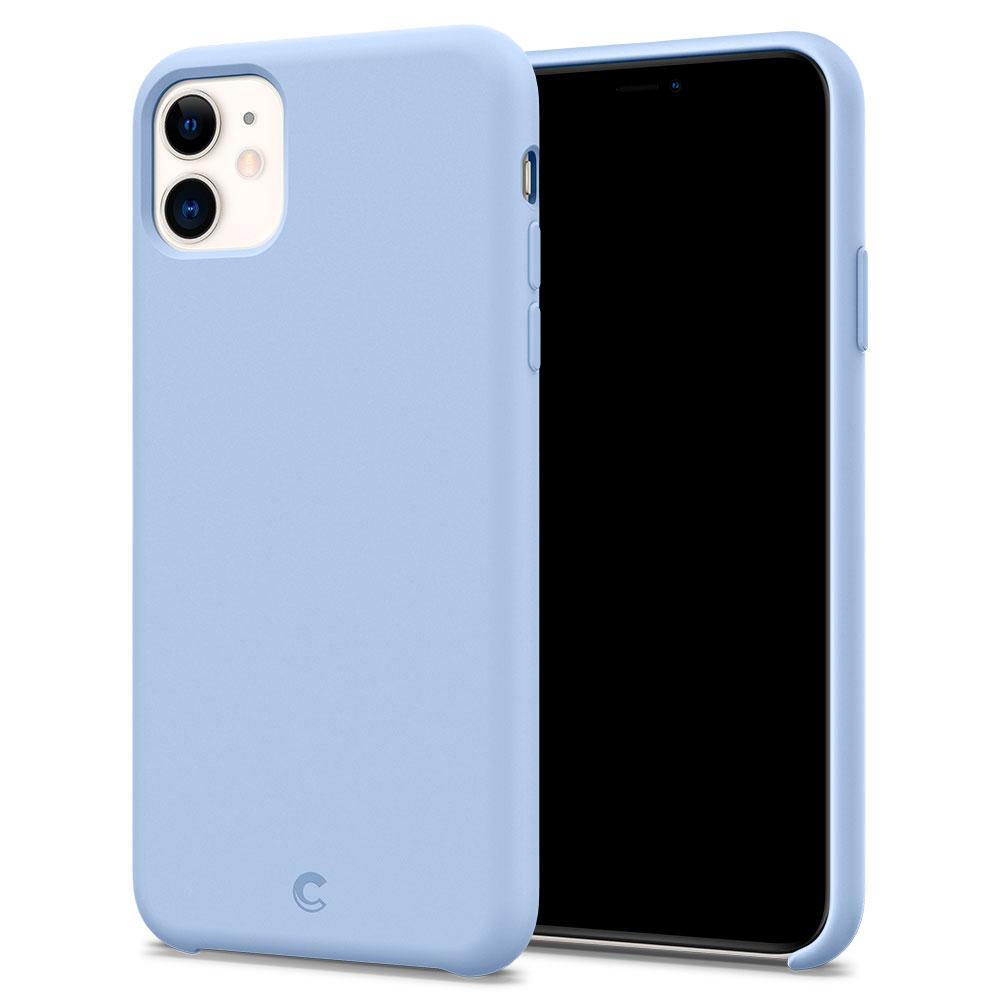 Ochranný kryt na iPhone 11 - Spigen, Silicone Cornflower