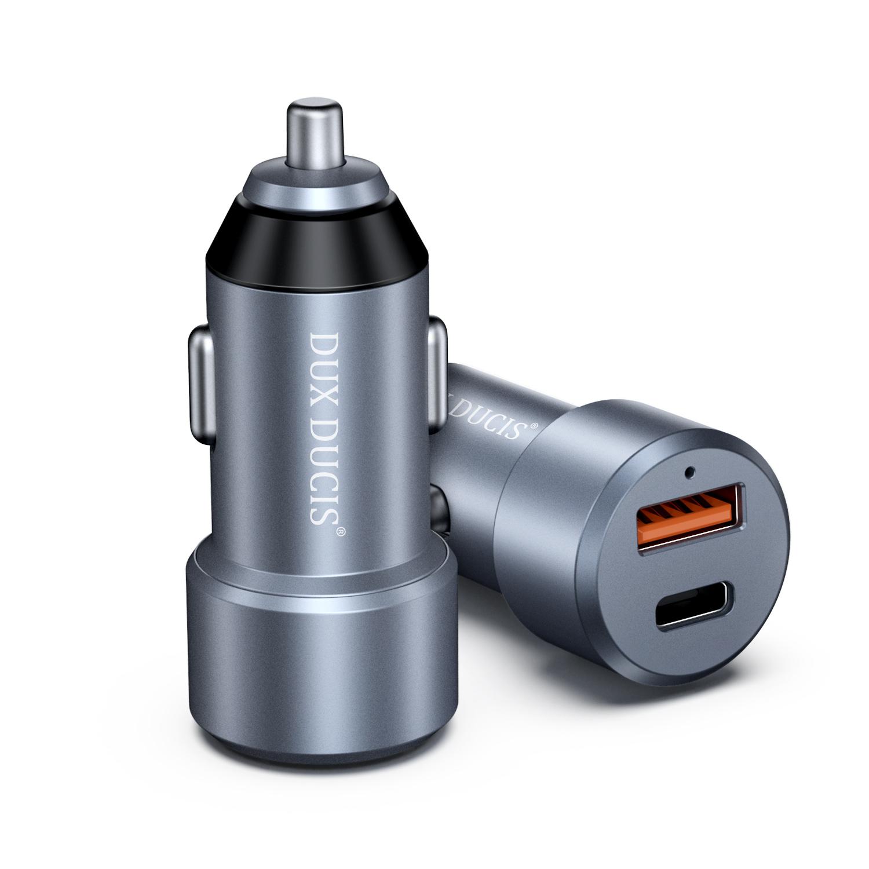 Auto-nabíječka pro iPhone a iPad - DuxDucis, B30 PD+QC 30W (USB + USB-C)