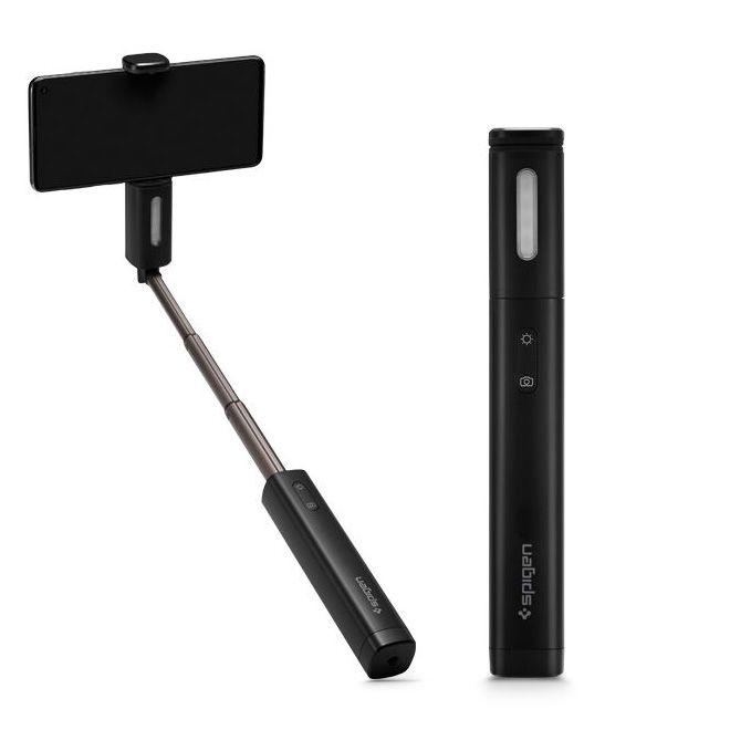 Bluetooth selfie tyč pro iPhone - Spigen, S550W Black