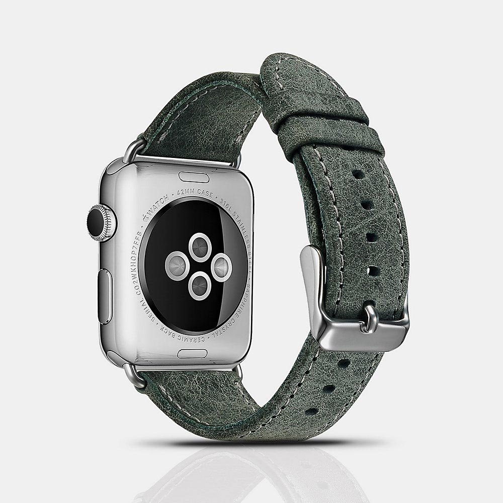 Řemínek pro Apple Watch 38mm / 40mm - iCarer, Classic Green