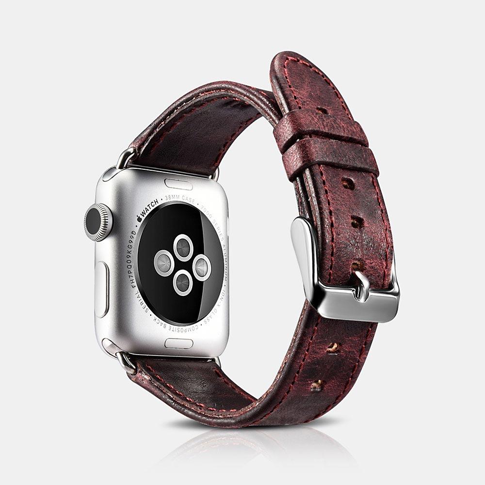 Řemínek pro Apple Watch 38mm / 40mm - iCarer, Classic Wine