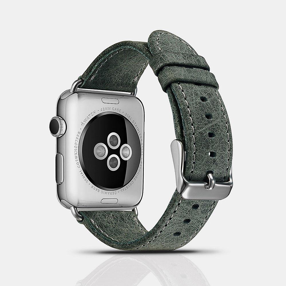 Řemínek pro Apple Watch 42mm / 44mm - iCarer, Classic Green